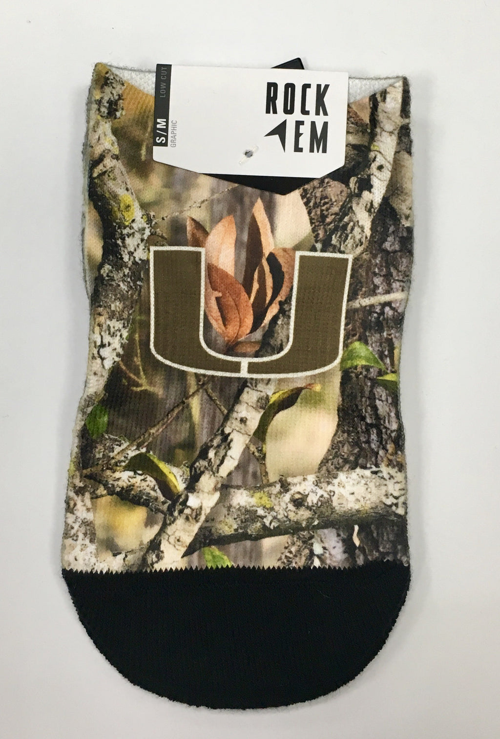 Miami Hurricanes Rock'em Faux Camo Low Cut Socks