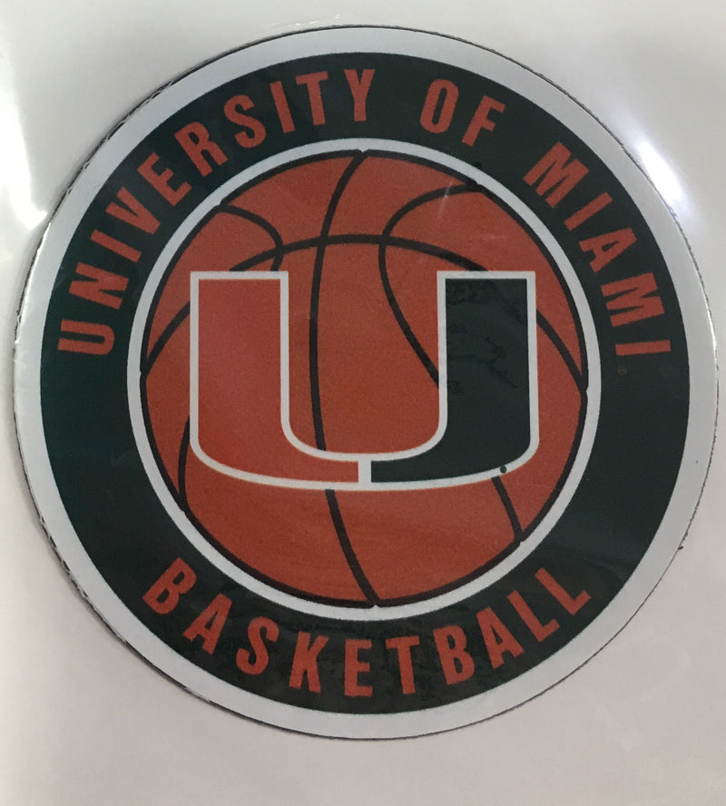 "Miami Hurricanes Basketball Round 3"" Magnet"