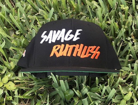 2b9ae25e94e Duh Nation Savage Ruthless Snapback Hat - Black