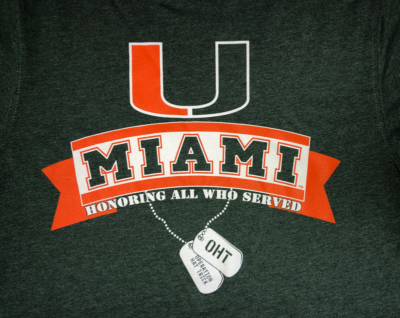 Miami Hurricanes OHT Dog Tags T-Shirt - Green