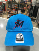 Miami Marlins '47 Glacier Blue Clean Up Adjustable Hat