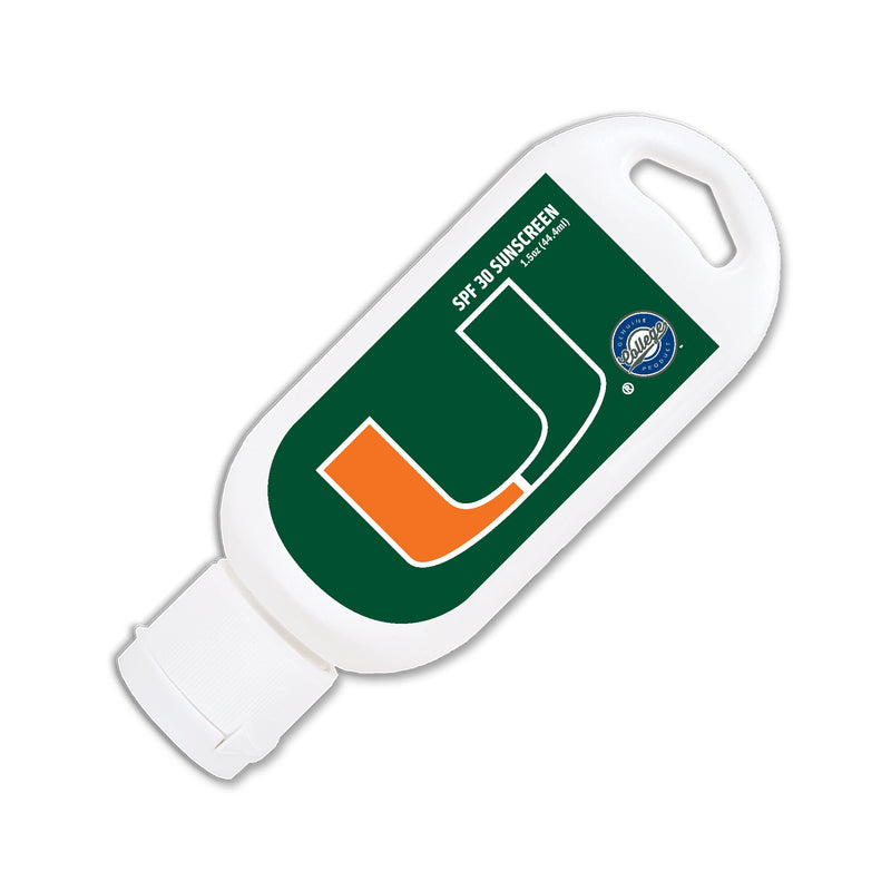 Miami Hurricanes SPF 30 Sunscreen Sport 15 oz