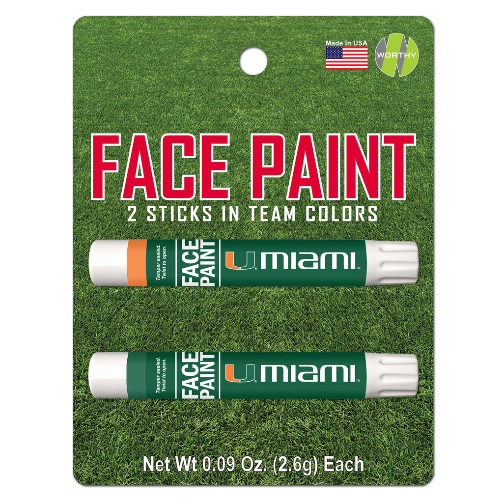 Miami Hurricanes Face Paint - 2-Pack