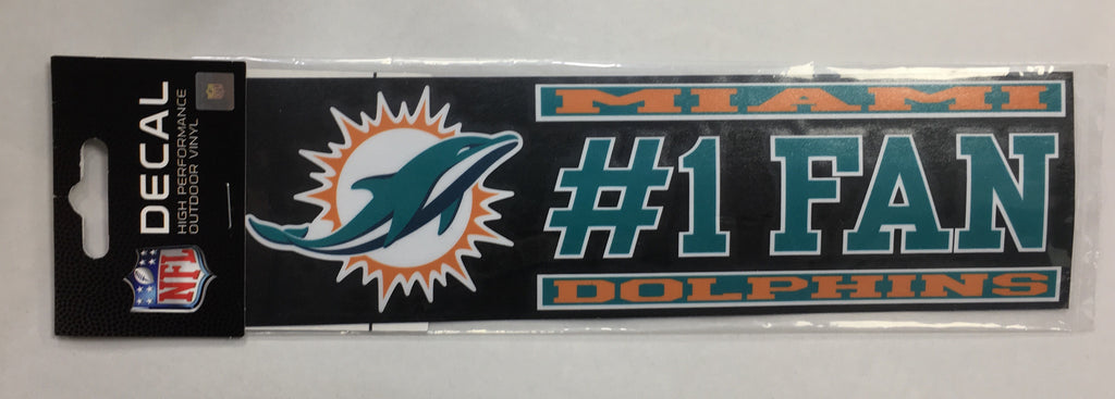 Miami Dolphins #1 Fan Vinyl Decal