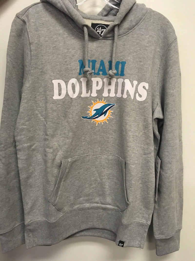 Miami Dolphins Women's Headline Pullover Hood Slate Grey