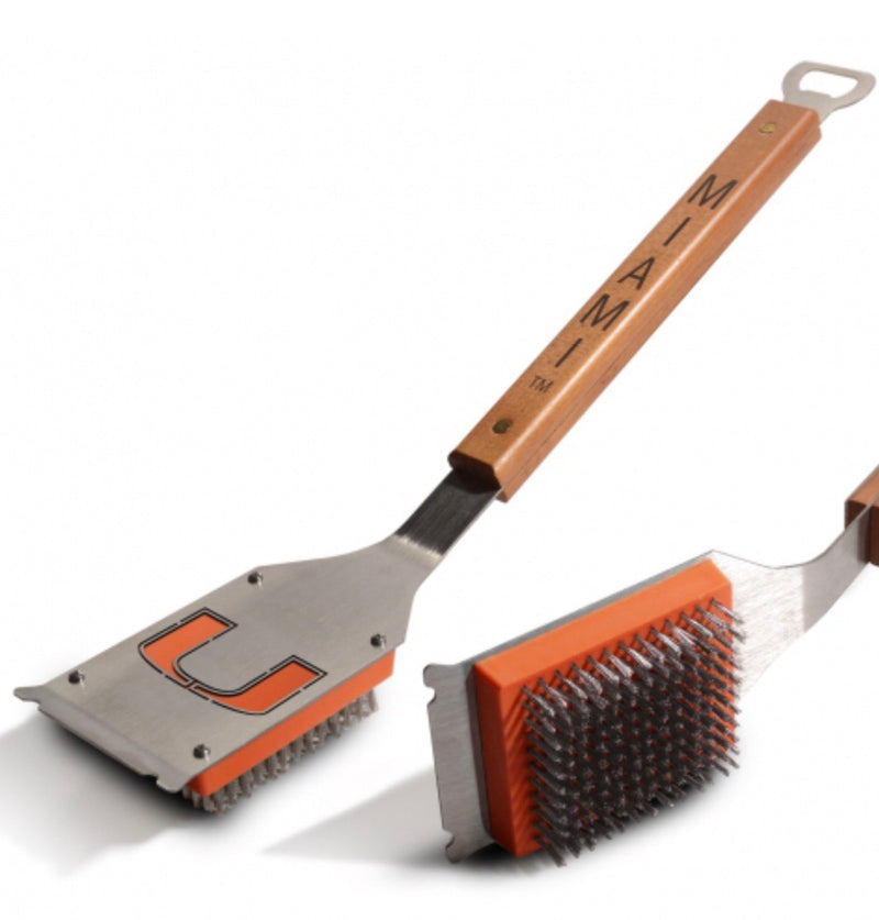 Miami Hurricanes Sportula Classic Grill Brush with Bottle Opener
