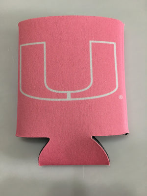 Miami Hurricanes Can Hugger - Pink w/White U - CanesWear at Miami FanWear Tailgate Gear Jay Mac CanesWear at Miami FanWear