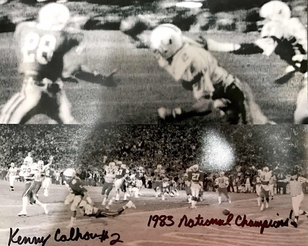 "Autographed Kenny Calhoun ""The Play"" Collage Photo - 8x10 (Black & White)"