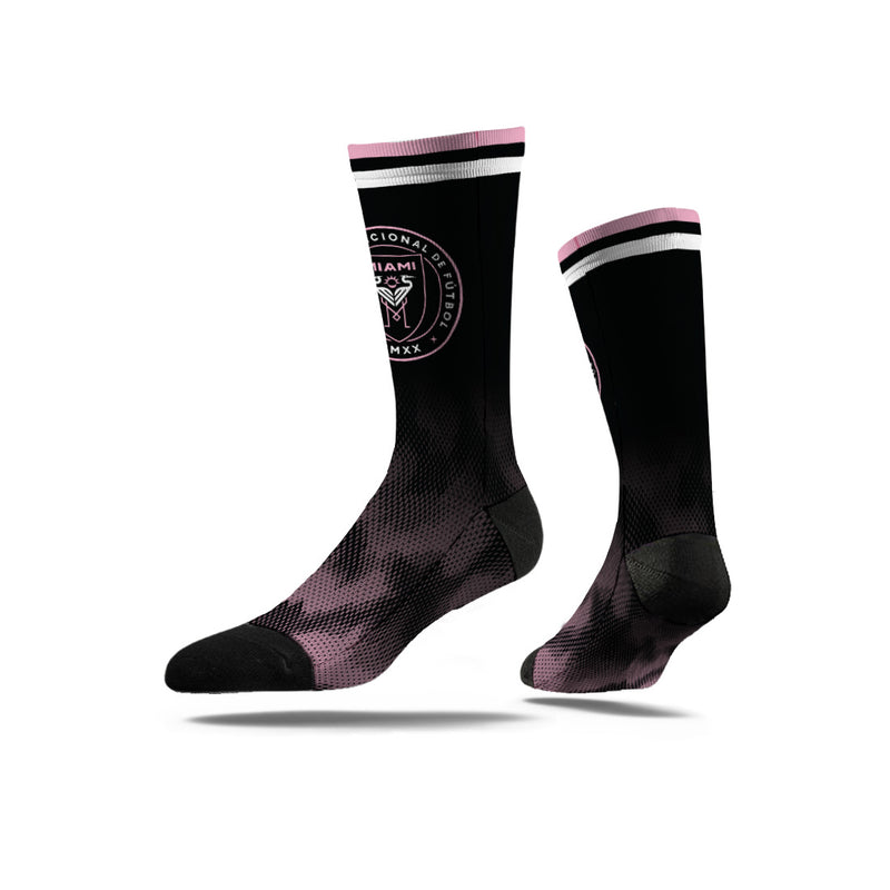 Inter Miami CF Strideline Black Econ Full Sublimated Crew Socks