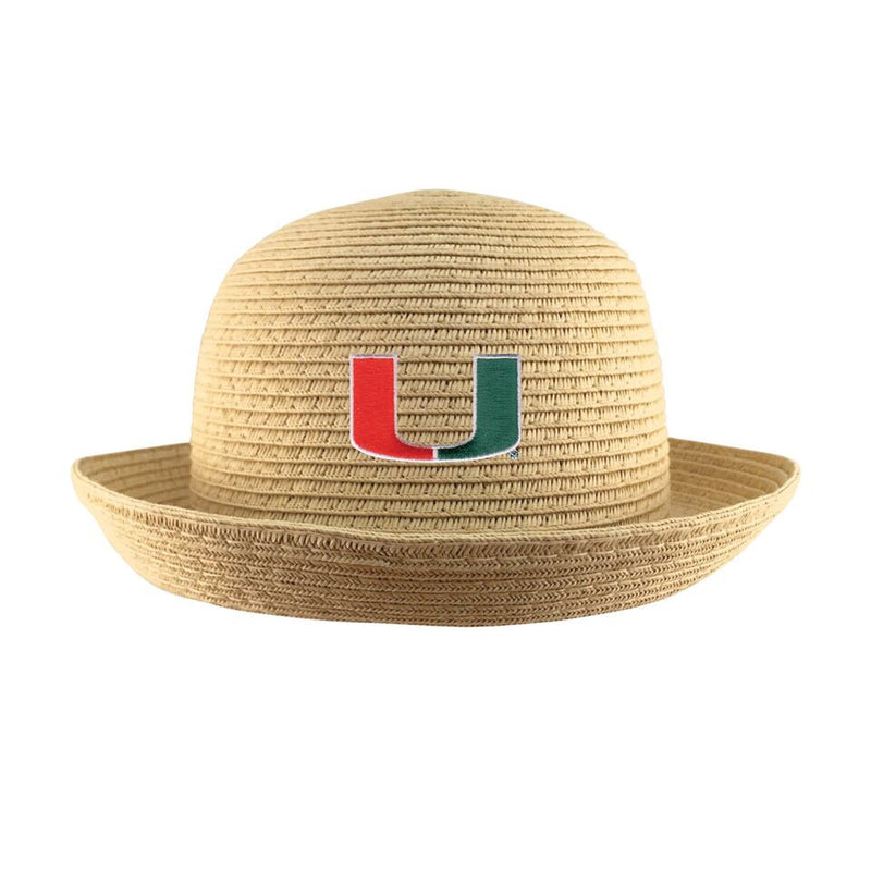 Miami Hurricanes Youth Straw Bowler Hat - George