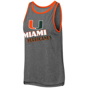 Miami Hurricanes Colosseum WOMEN'S BAYONNE MUSCLE TANK CHARCOAL/ORANGE