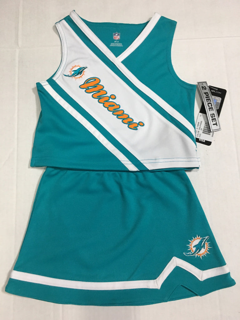 c87ada5f Miami Dolphins Girls Kids 2 Piece Cheerleader Set