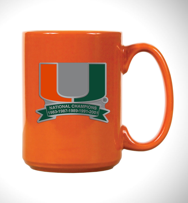 Miami Hurricanes 5 x Champions Mug - Orange