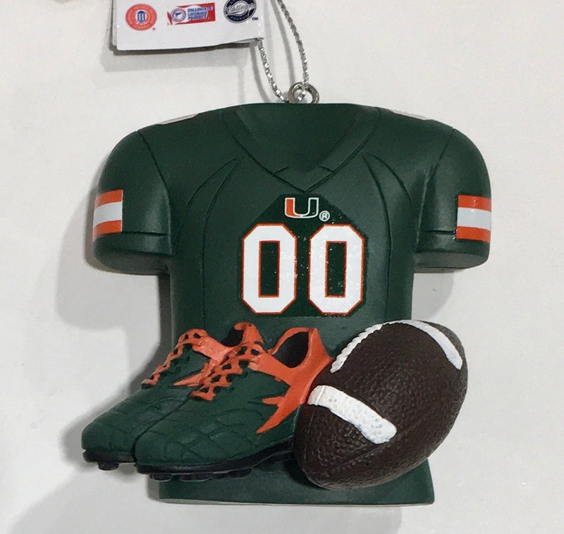 Miami Hurricanes Equipment Holiday Ornament