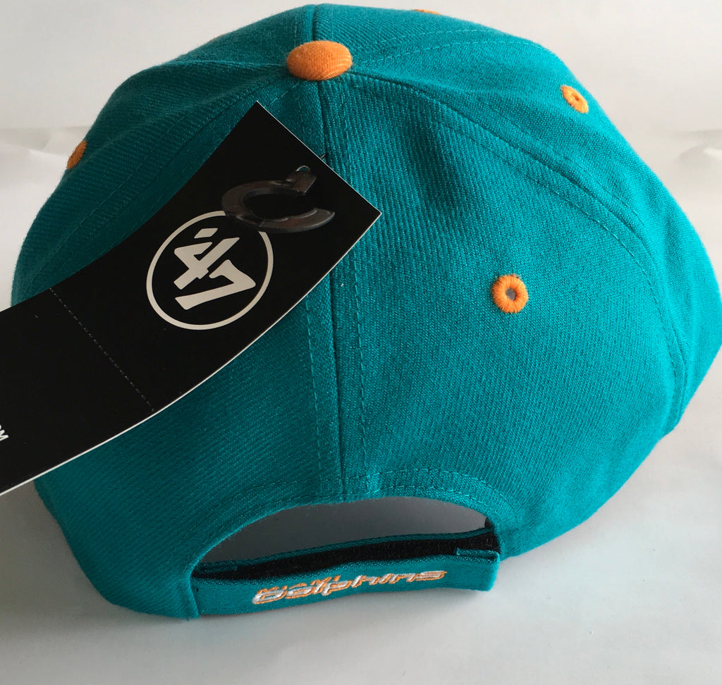 Miami Dolphins 47 Brand Audible Adjustable Hat - Aqua