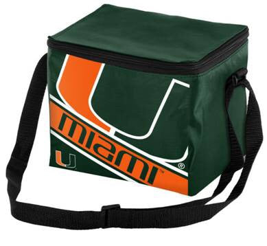 Miami Hurricanes Insulated Team Lunch Bag - 6 Pack  Cooler
