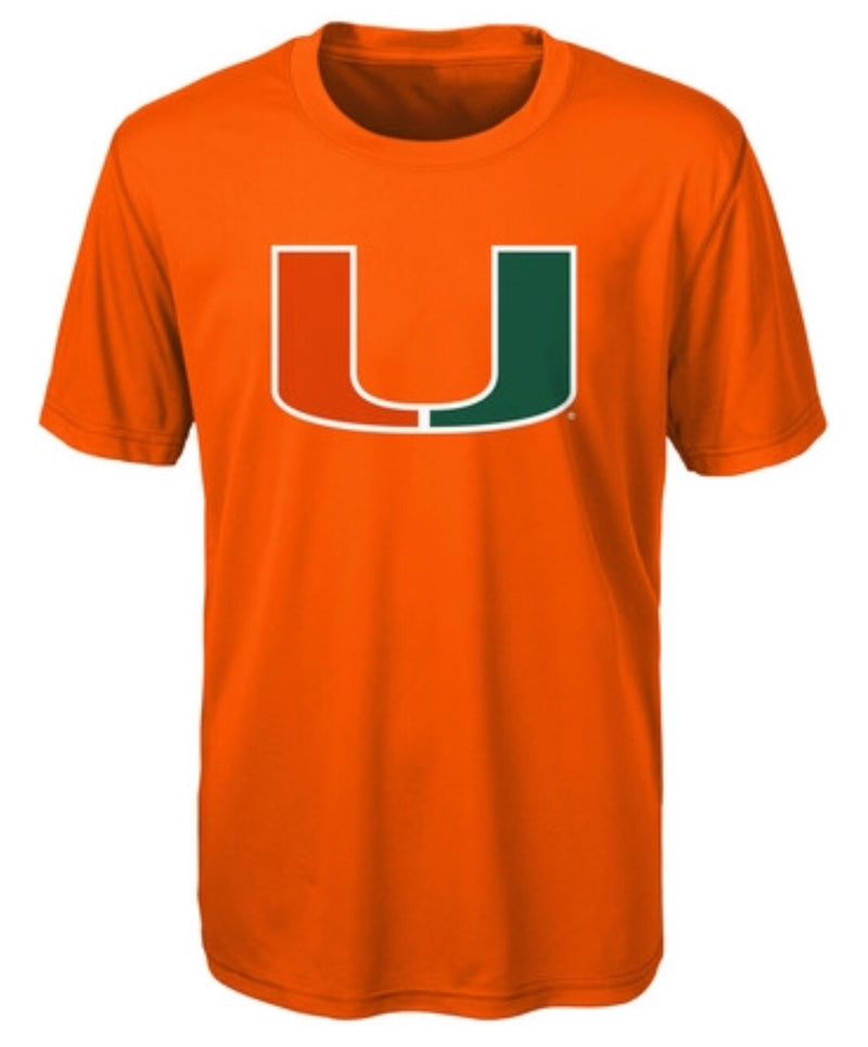 Miami Hurricanes Youth Ex Machina Dri-Tex T-Shirt - Orange