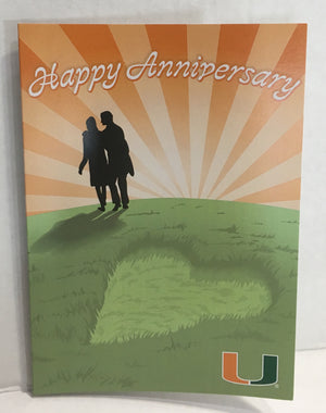 Miami Hurricanes Happy Anniversary Card