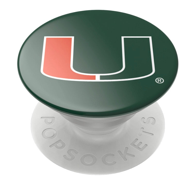Miami Hurricanes Popsocket U Logo - Green
