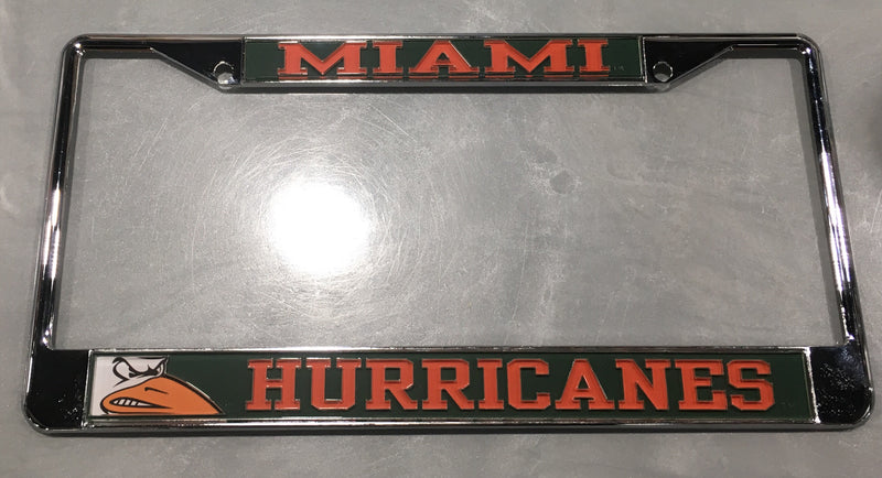 Miami Hurricanes License Plate Frame - Sebastian