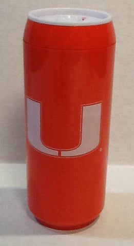 Miami Hurricanes Zipper Bottle Coolie Coozie - Patriotic