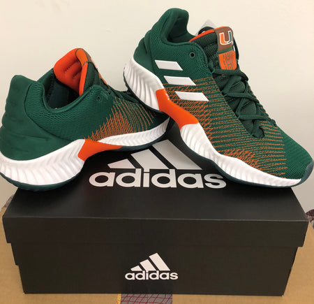 Miami Hurricanes adidas Pro Bounce Shoe / Sneaker - Green