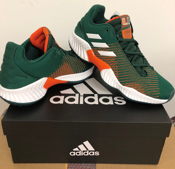 buy popular bf9ac 82b56 Miami Hurricanes adidas Pro Bounce Shoe  Sneaker - Green – CanesWear at  Miami FanWear