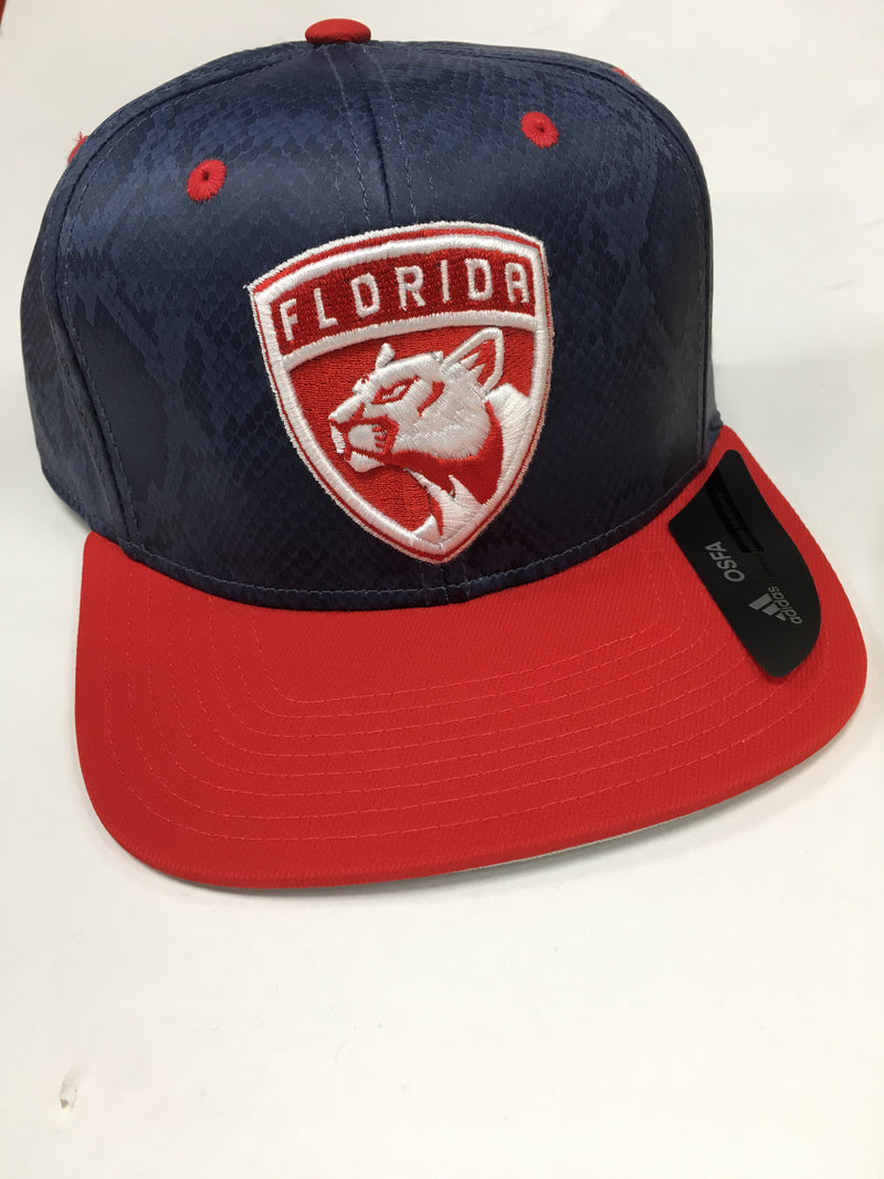 Florida Panthers adidas Flatbrim Snapback - Blue/Red