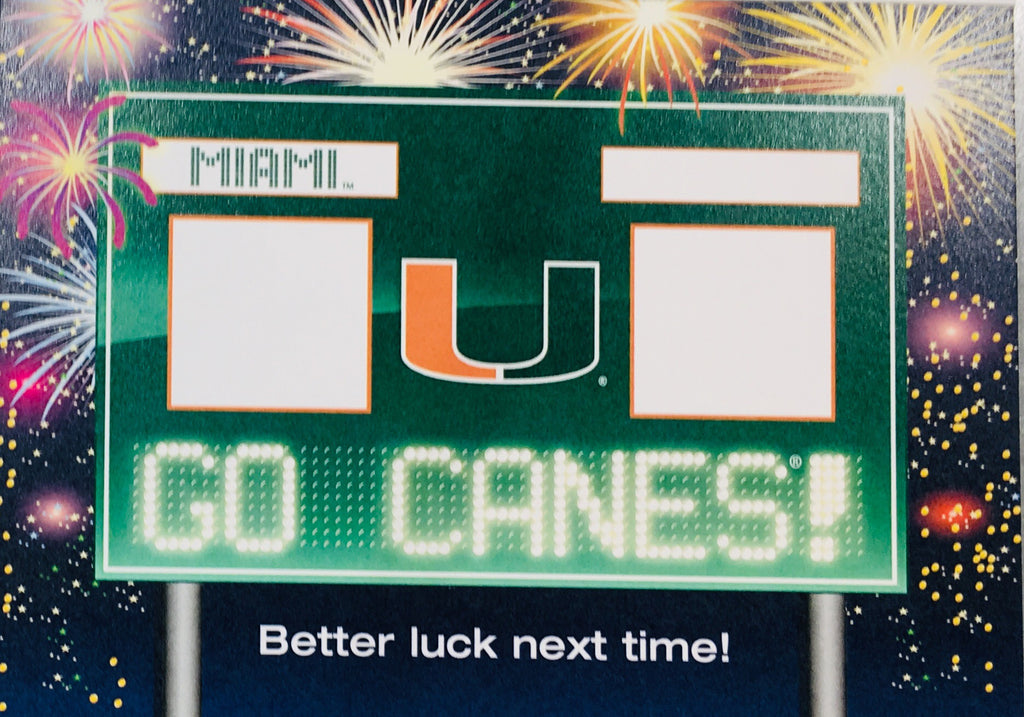 Miami Hurricanes Smack Talk Card