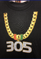 Miami Hurricanes Toddler 305 Turnover Chain T-Shirt - Black