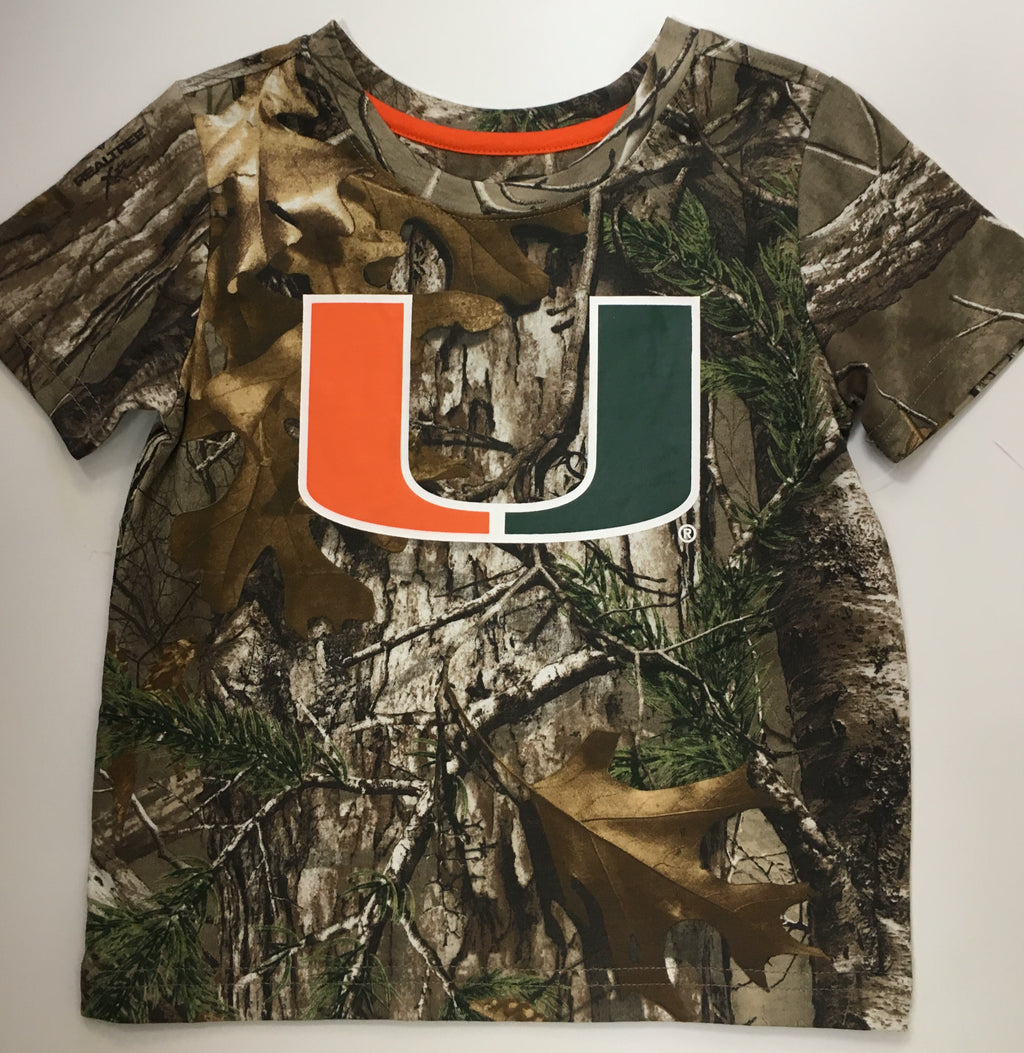 MIami Hurricanes Toddler Boy's Realtree Camo Draw T-Shirt