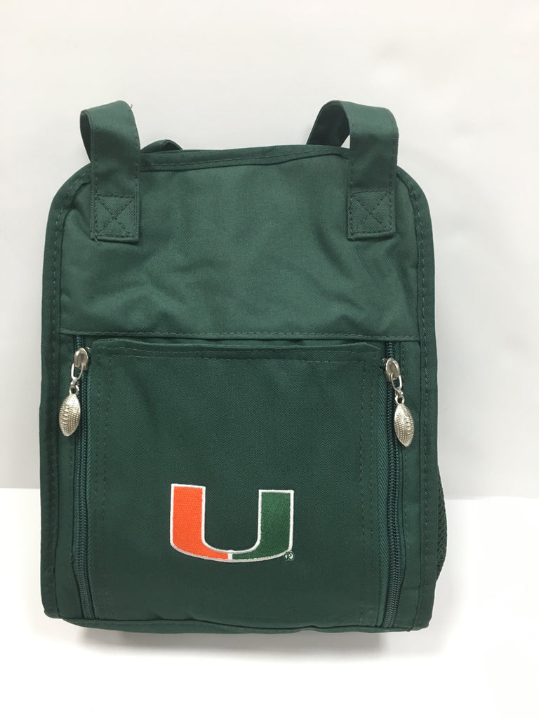 Miami Hurricanes Mini Diaper Bag- Green