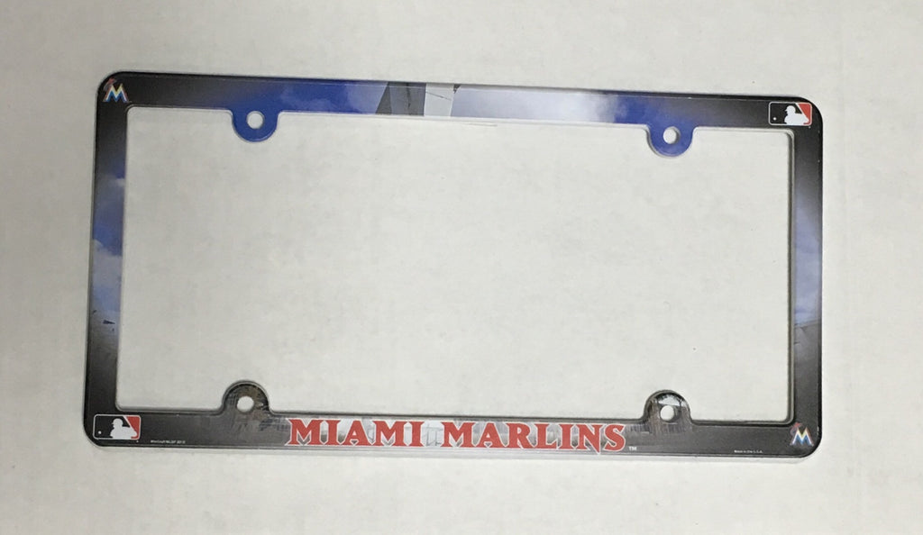 Miami Marlins Plastic License Plate Frame