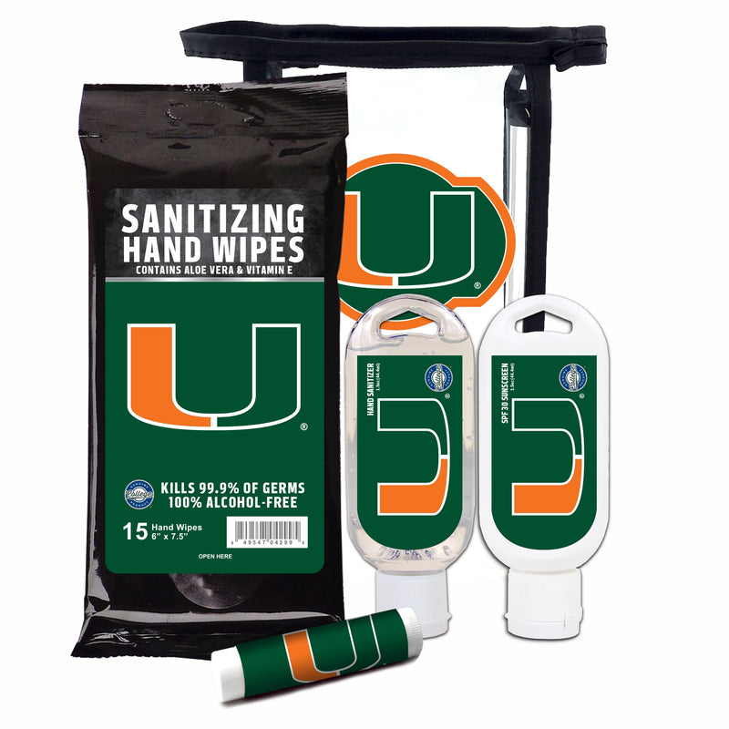 Miami Hurricanes 4-Piece Set w/Branded Clear Bag