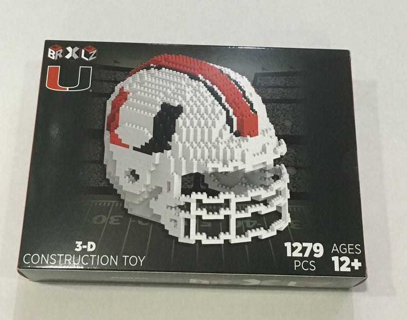 Miami Hurricanes 3D Brxlz Construction Toy - Helmet