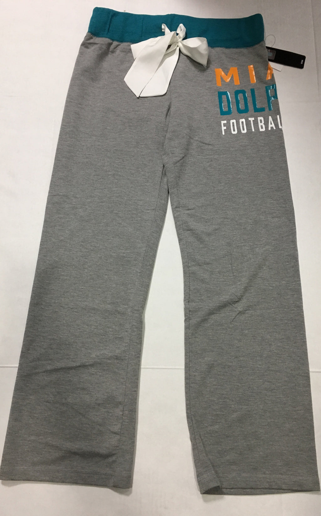 Miami Dolphins Women's Tri-Blend Sweatpants  - Grey/Aqua