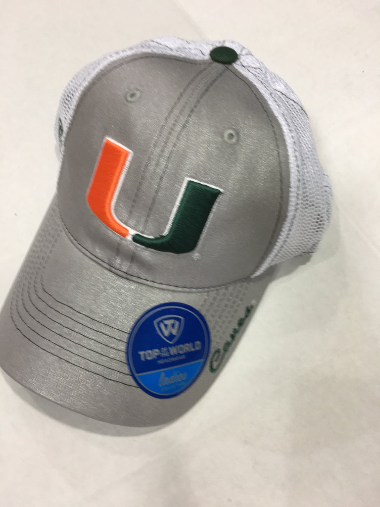 Miami Hurricanes Top of the World Women's Glamour Adjustable - Two tone