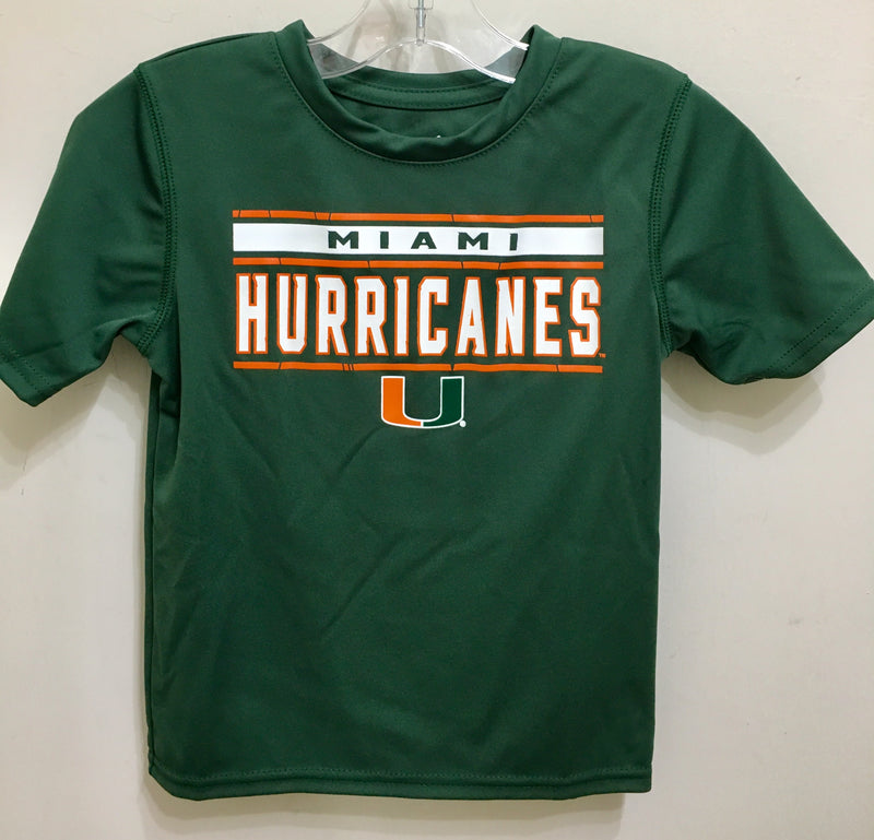 Miami Hurricanes Youth Re-Generation Dri-Tek T-Shirt - Green