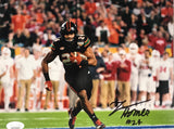 Autographed Travis Homer 8x10 Photo- Black Jersey