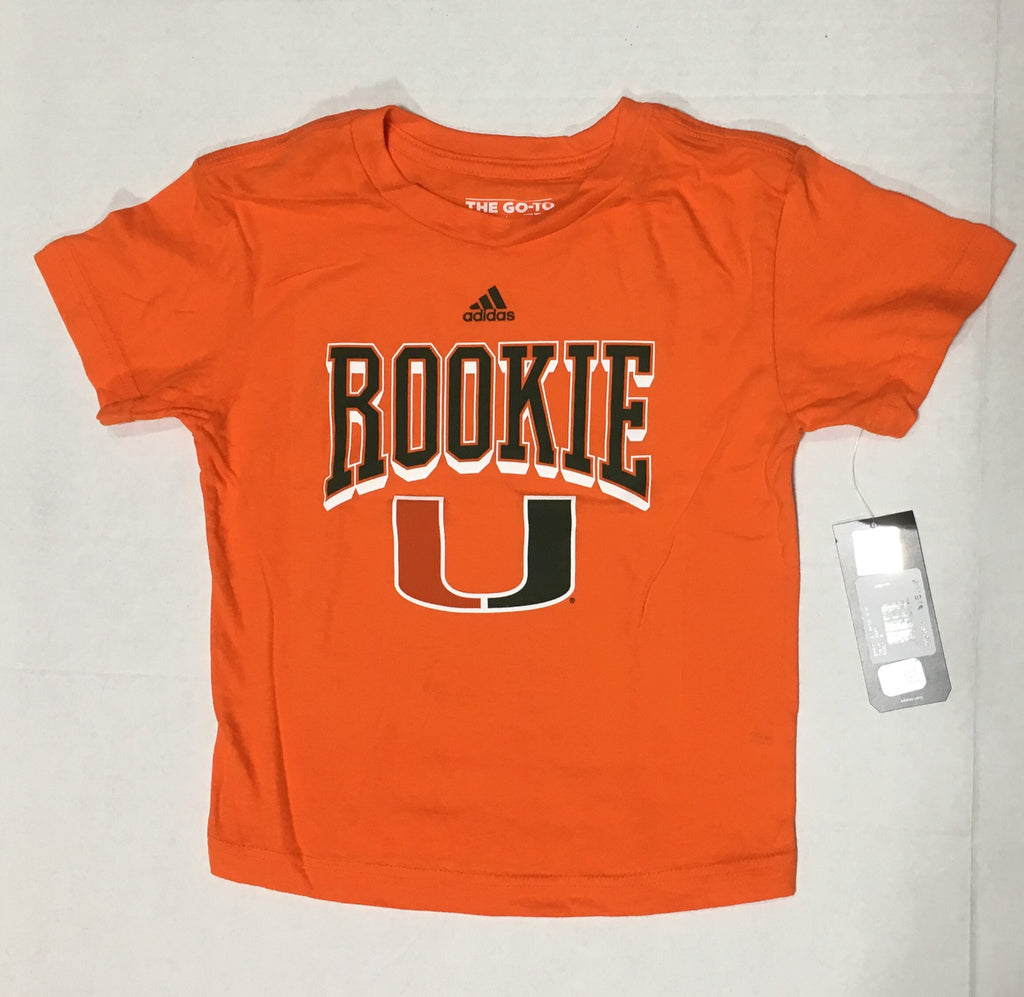 af0c16e4949ff Miami Hurricanes adidas Kids Inductee Go-To T-Shirt - CanesWear at Miami  FanWear ...