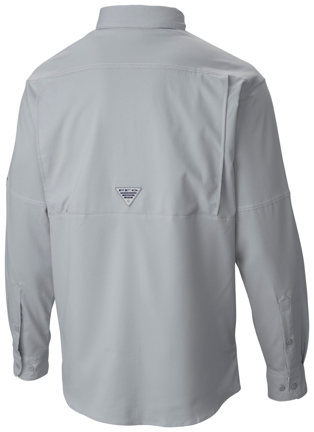 Miami Hurricanes Columbia Tamiami Low Drag L/S Shirt- Cool Grey