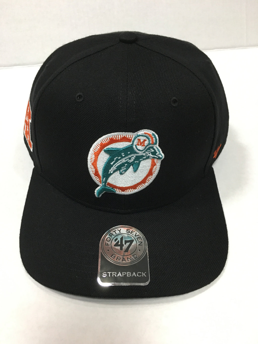 Miami Dolphins Super Shot Captain Wool Snapback Hat - Black