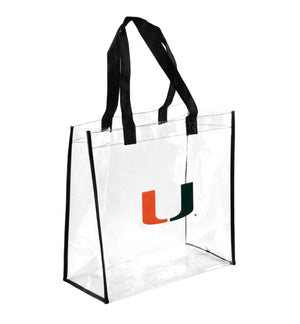 Miami Hurricanes Clear Reusable Bag