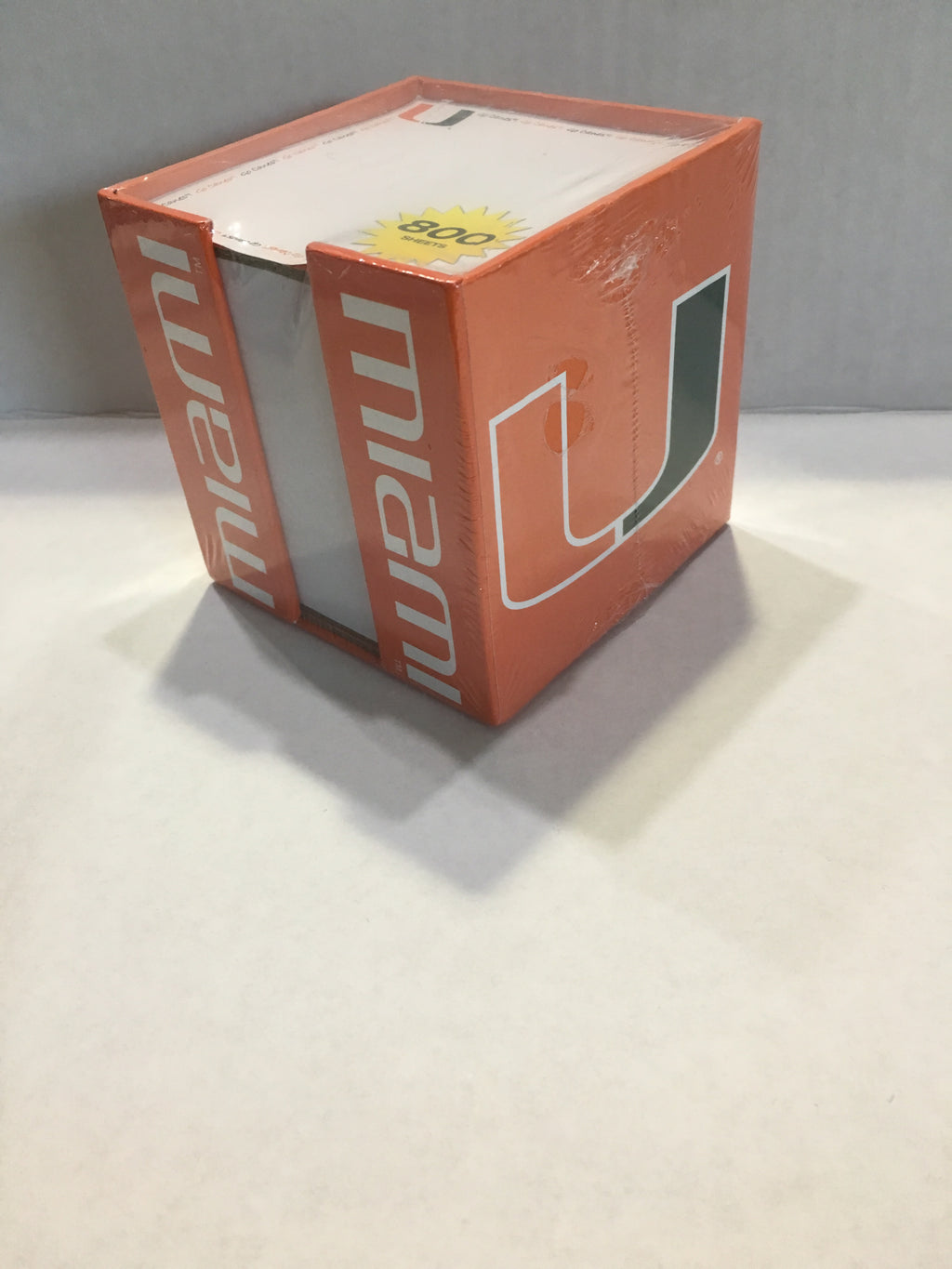 Miami Hurricanes Note Card Cube Holder