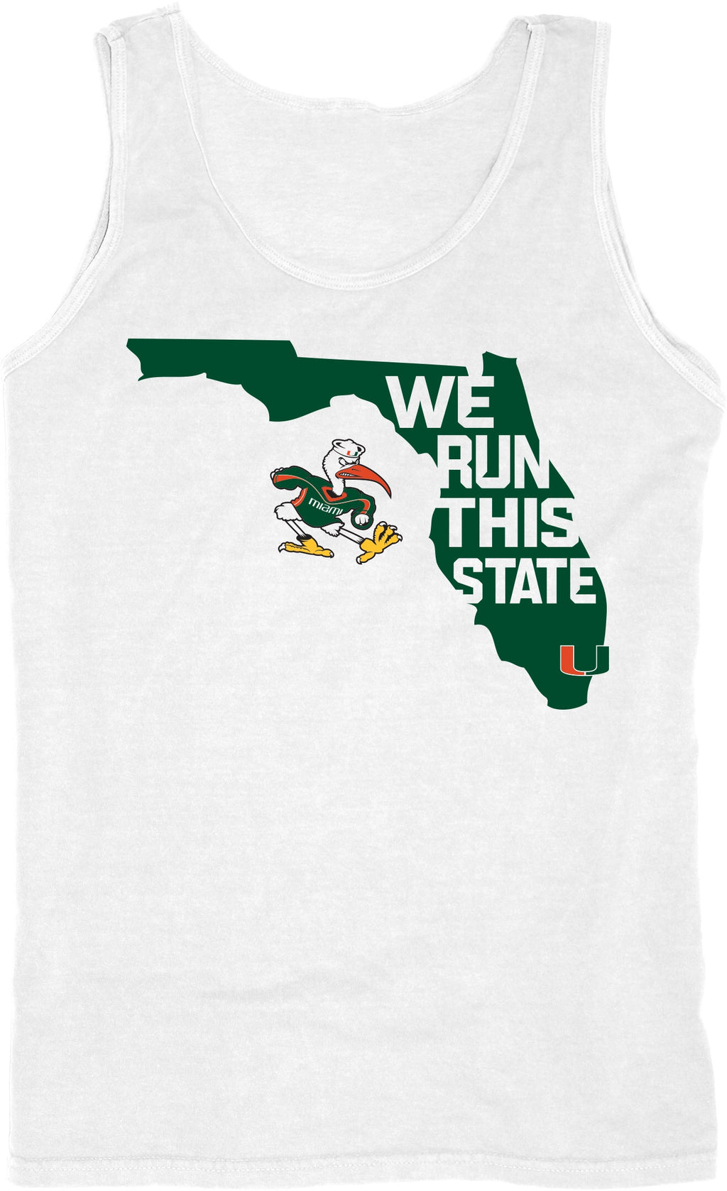 Miami Hurricanes We Run This State Tank Top - White