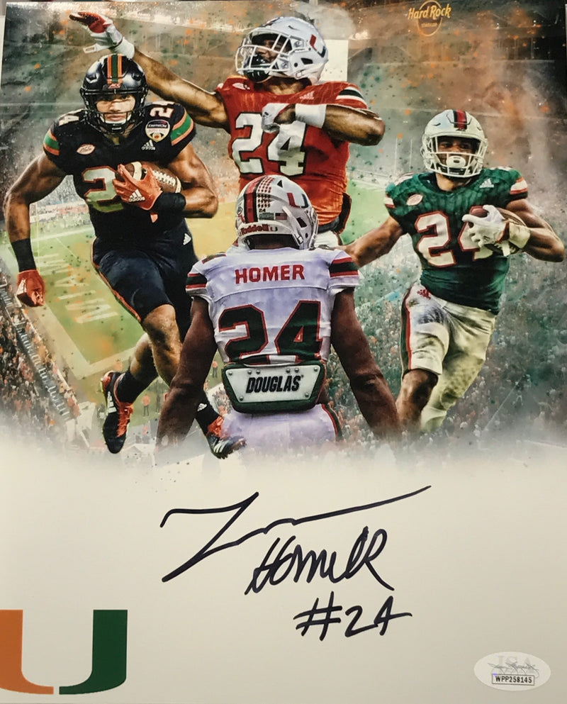 Autographed Travis Homer 8x10 Photo Collage