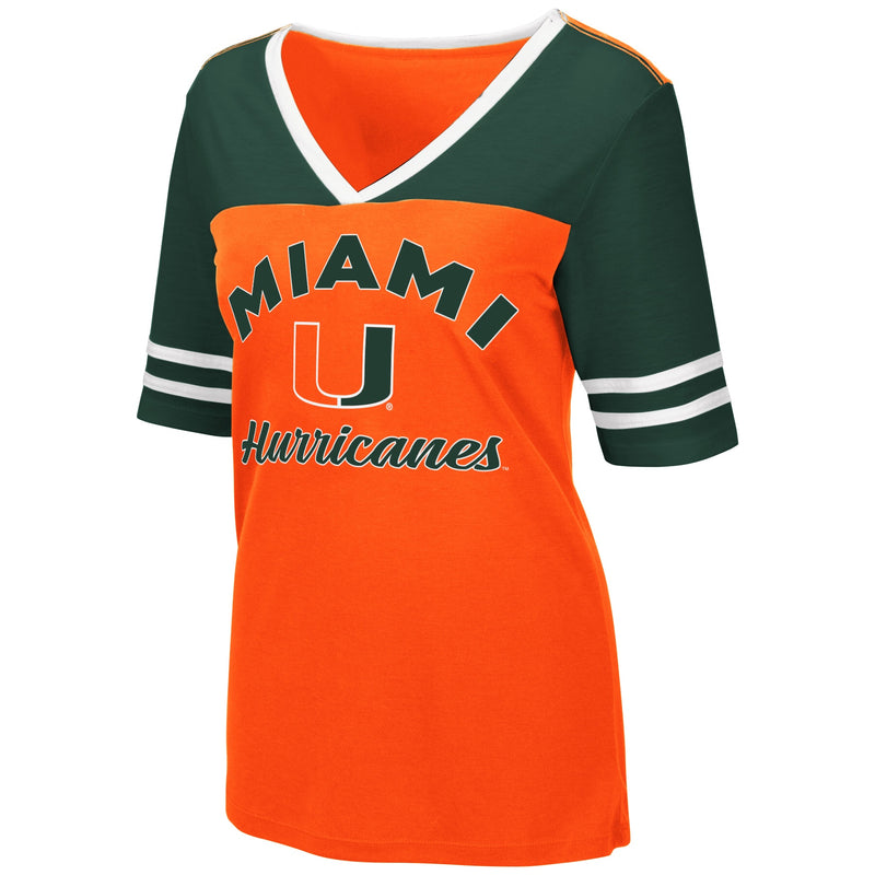 Miami Hurricanes Colosseum WOMEN'S SAMANTHA S/S TEE - ORANGE