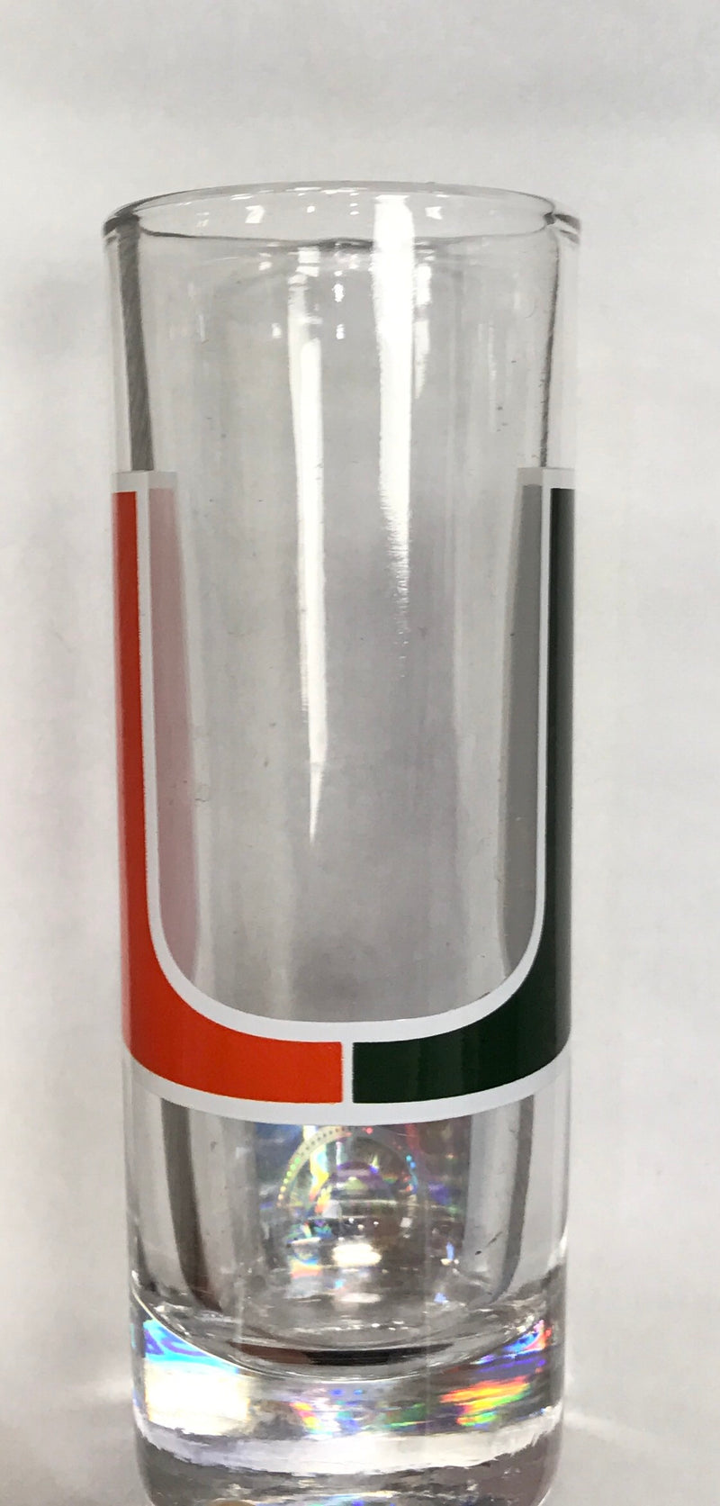 Miami Hurricanes Big Logo Cordial Shot Glass