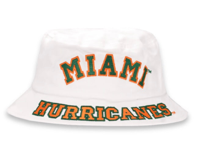 Miami Hurricanes Dyme Lyfe White Bucket Hat