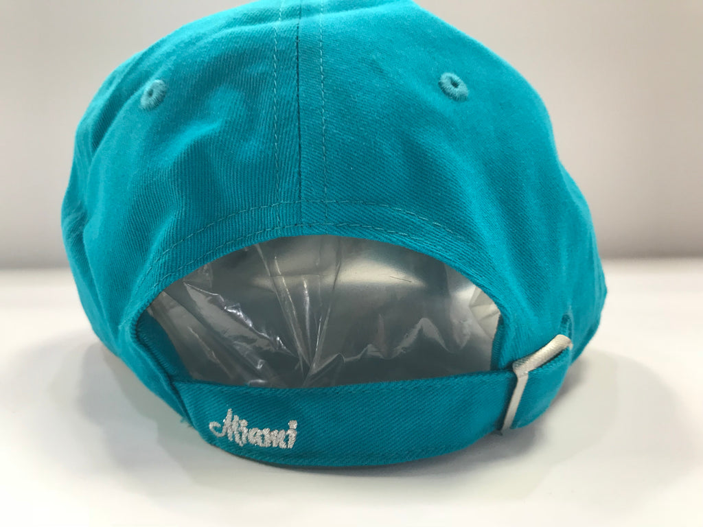 Miami Dolphins Women's Hat Sparkle Team Color 47 Clean Up Neptune